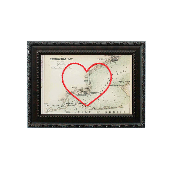 Pensacola Bay Heart Map