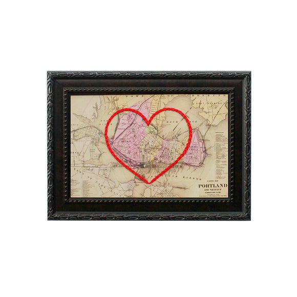 Portland, Maine Heart Map
