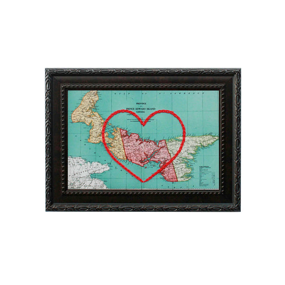 Prince Edward Island Heart Map