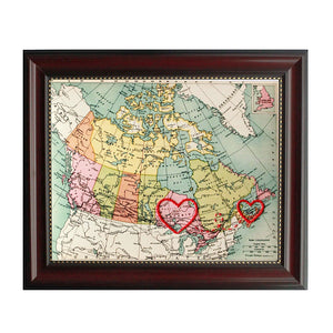PEI to Ontario Connecting Hearts Map