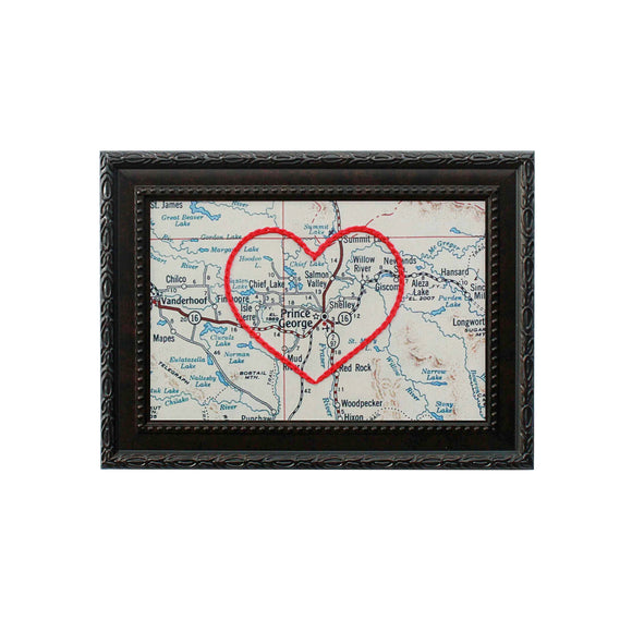 Prince George, BC Heart Map