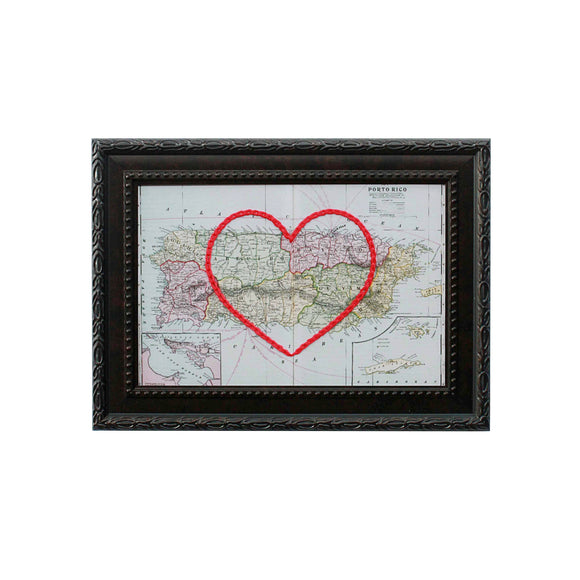 Puerto Rico Heart Map