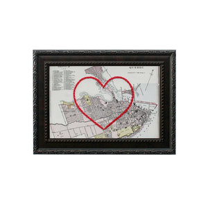 Quebec City Heart Map