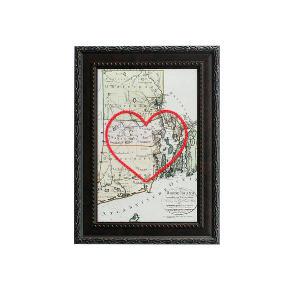 Rhode Island Heart Map