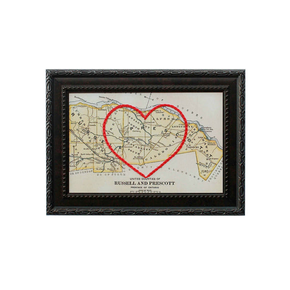 Russell & Prescott County Heart Map