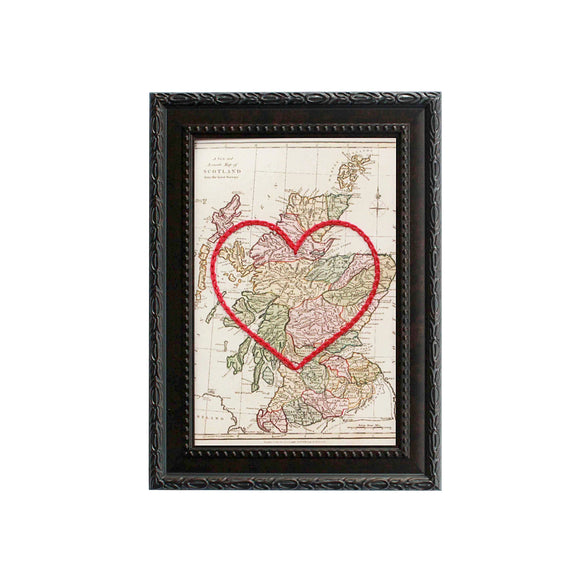 Scotland Heart Map