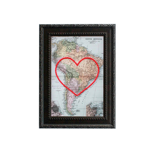 South America Heart Map