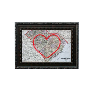 South Carolina Heart Map