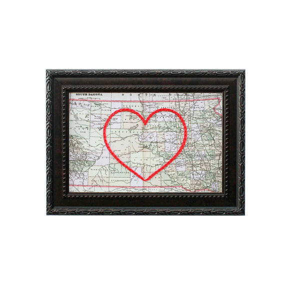 South Dakota Heart Map