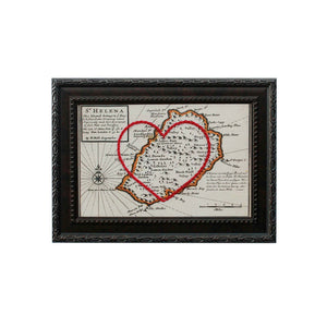 Saint Helena Heart Map