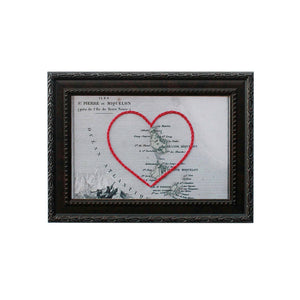 St. Pierre and Miquelon Heart Map