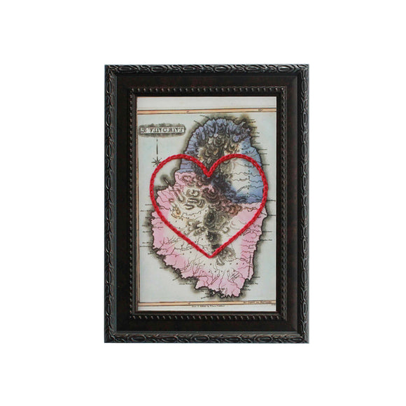 St. Vincent Island Heart Map