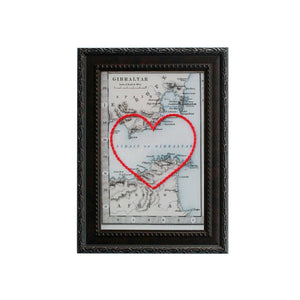 Strait of Gibraltar Heart Map