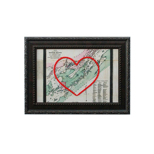 Thousand Islands Heart Map