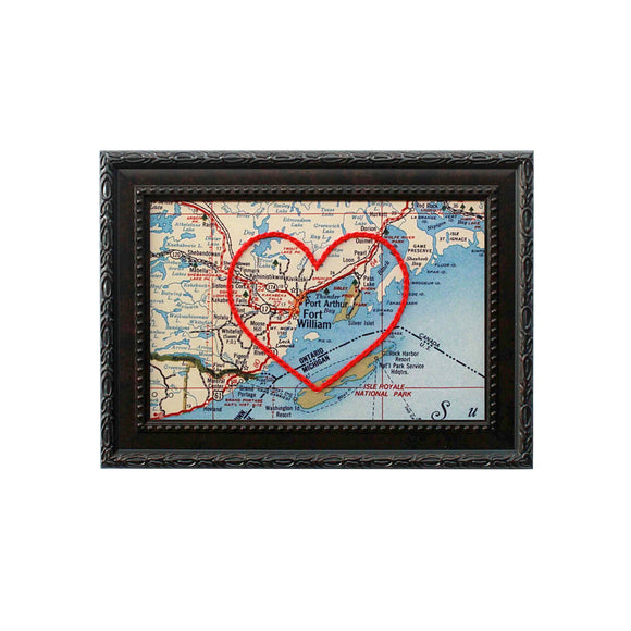Thunder Bay Heart Map