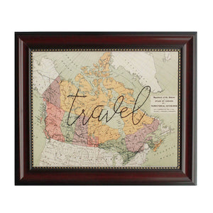"""Travel"" Canada Map"