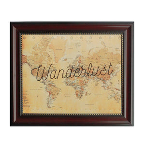 """Wanderlust"" World Map"