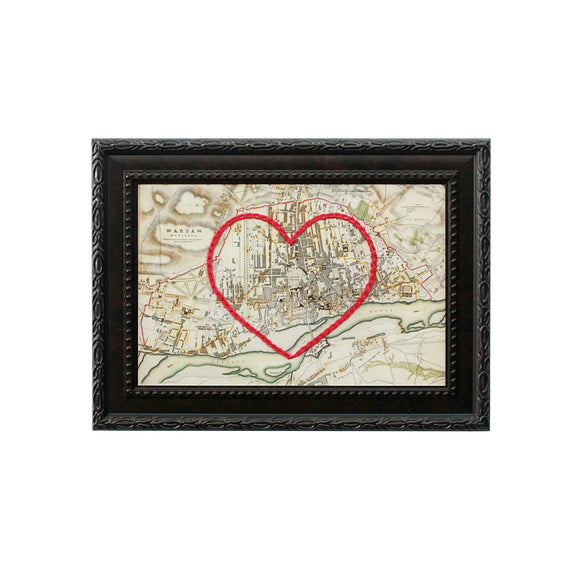 Warsaw Heart Map