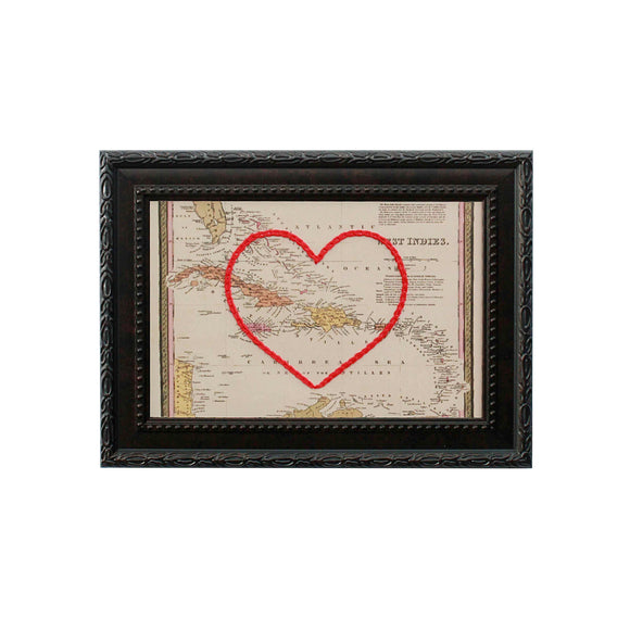 West Indies Heart Map