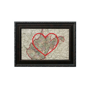 West Virginia Heart Map
