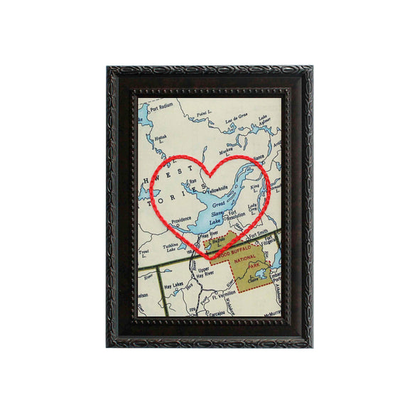 Yellowknife Heart Map