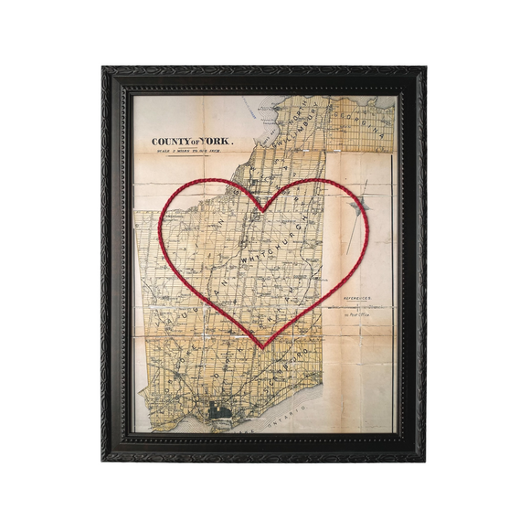 York County Heart Map - 8x10