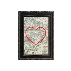 Yosemite National Park Heart Map