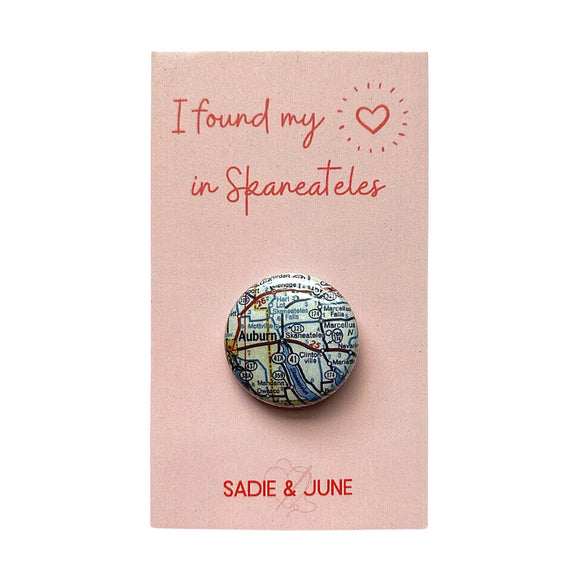 Skaneateles Pinback Button