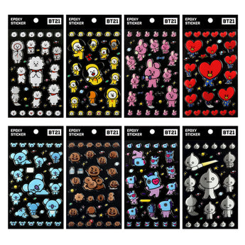 BT21 EPOXY STICKERS