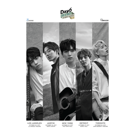 DAY6 LIVE & MEET IN NORTH AMERICA 2017 POSTER
