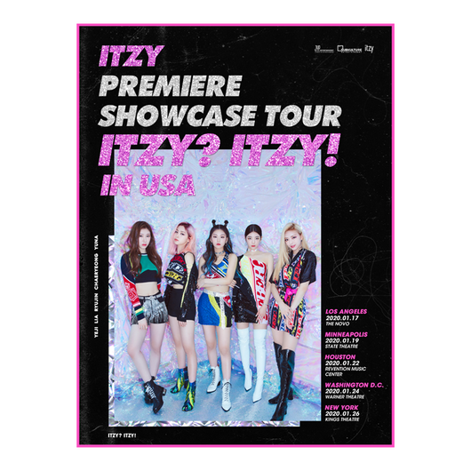 ''ITZY? ITZY!' SHOWCASE TOUR OFFICIAL POSTER