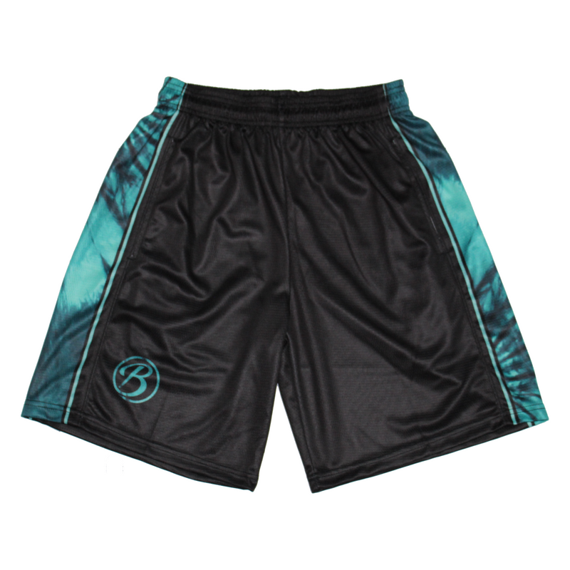 Blatant Lacrosse Woodstock Shorts: Black/Green