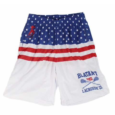Blatant Lacrosse Shorts USA Stripes