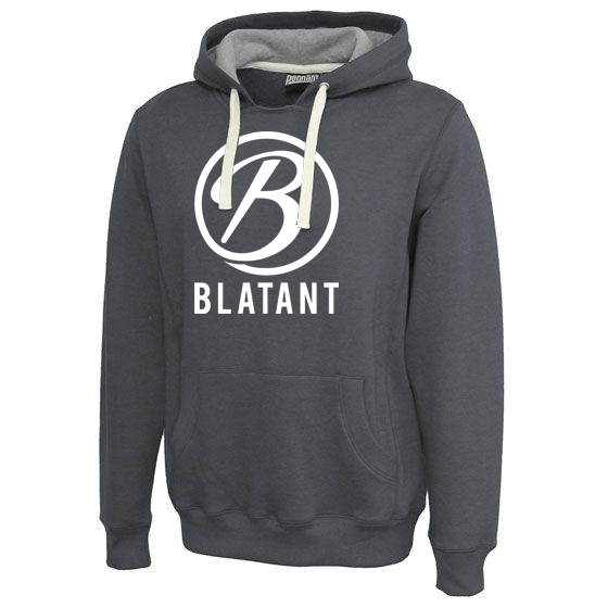 Blatant Lacrosse Throwback Hoodie: Black Heather