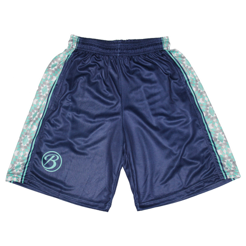 Blatant Lacrosse Temple Shorts: Blue/Teal