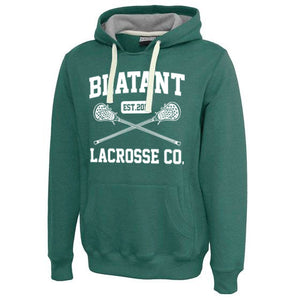 Blatant Lacrosse Est. 2011 Sweatshirt Hoodie: Forest Heather