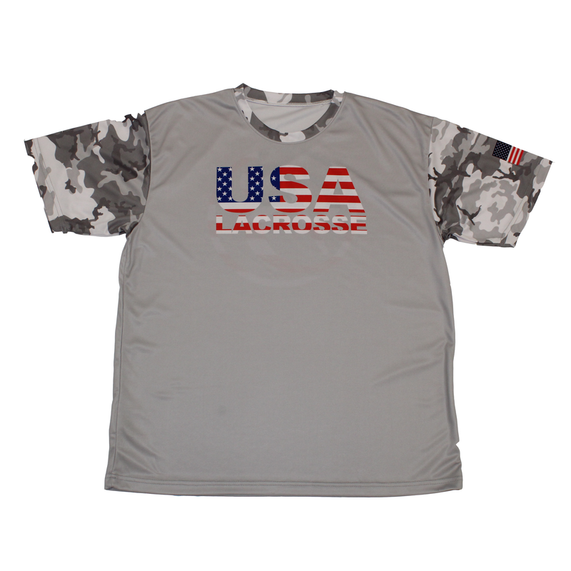 Blatant Lacrosse Arctic Camo USA Lacrosse Shooting Shirt