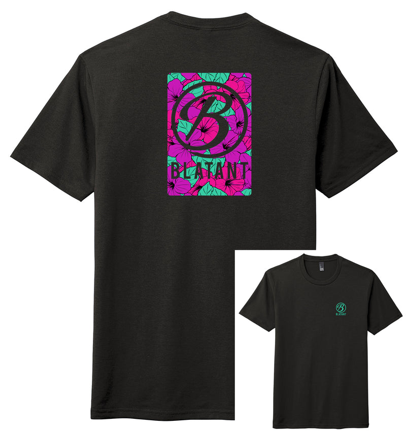 Blatant Lacrosse Aloha Graphic Tee: Purple