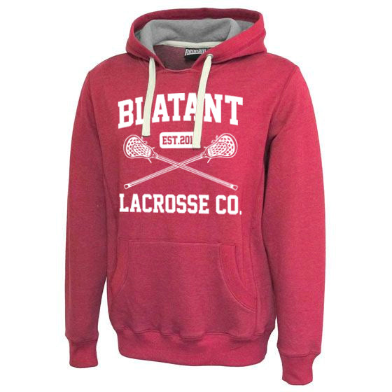 Blatant Lacrosse Est. 2011 Sweatshirt Hoodie: Heather Red