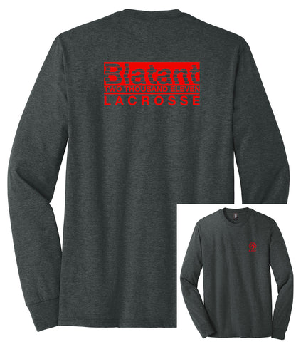 Blatant Lacrosse Decimate Graphic Long Sleeve: Red