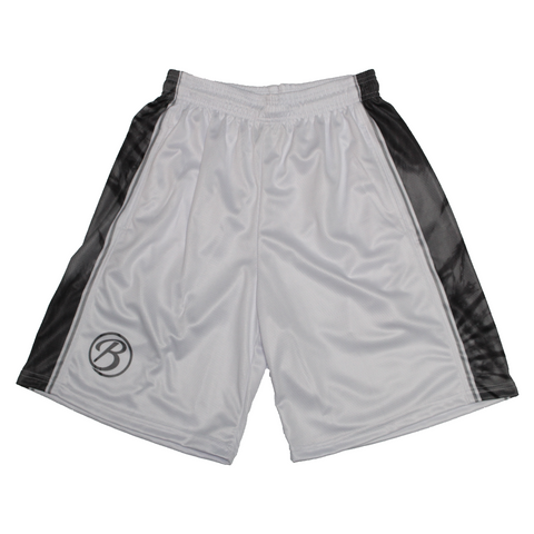 Blatant Lacrosse Woodstock Shorts: White/Black