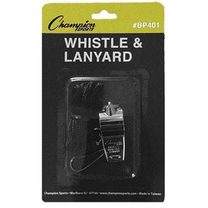 Metal Whistle and Lanyard (12 Pack)