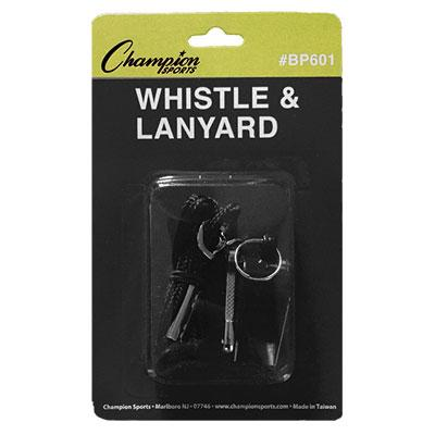 Whistle and Lanyard (12 Pack)