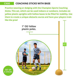 Coaching Sticks with Base