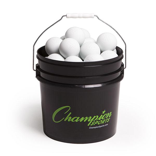 Champion Lacrosse Ball Bucket (36 Balls) WHITE