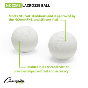 Champion Lacrosse Balls (Case 120) WHITE