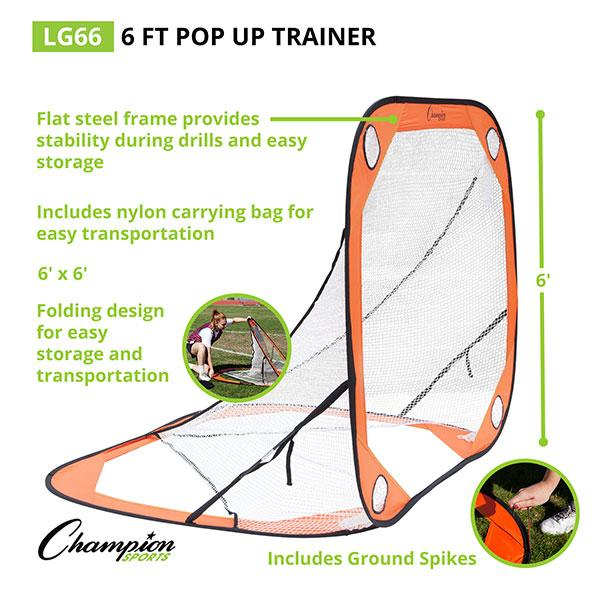 Pop-Up Lacrosse Target Trainer (6x6)