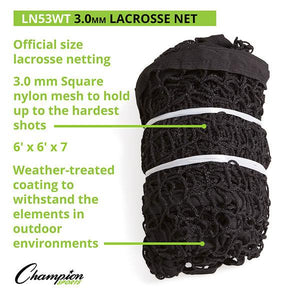 Lacrosse Replacement Net Weather-Treated (3MM) BLACK