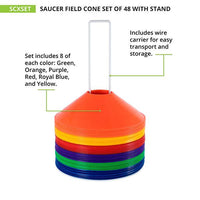 Saucer Field Cone Set of 48