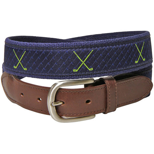 "Belted Cow - ""Fore"" Your Waist Leather Tab Belt"
